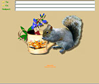 squirrel incredimail letter buterfly stationery