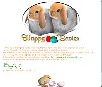 Easter Bunnies IM Letter