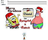 Merry Christmas from Spongebob and Patrick